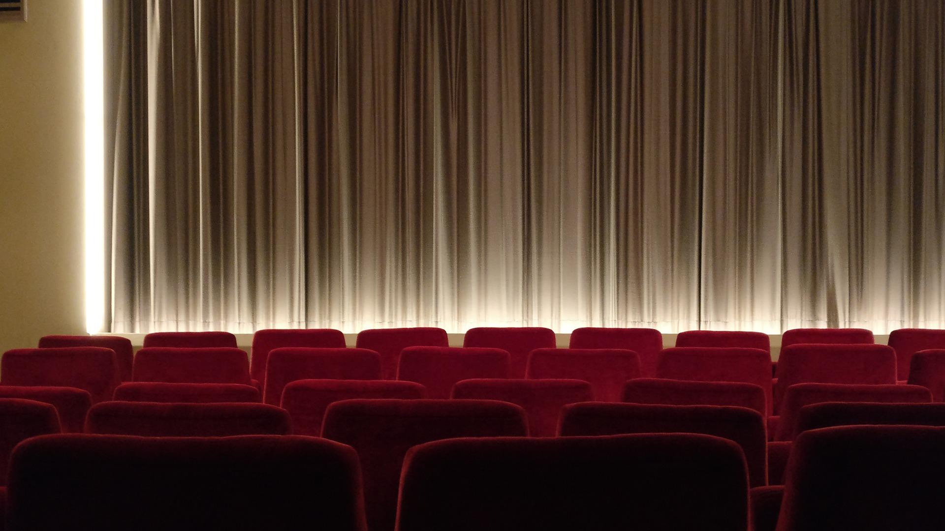 Une salle de cinéma vide